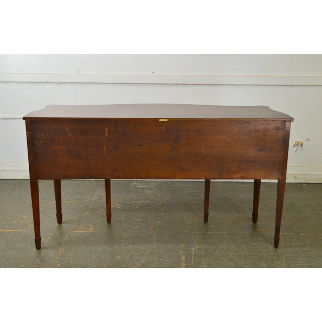 1940s B. Altman & Co. New York Vintage Mahogany Federal Style Sideboard For Sale - Image 5 of 13