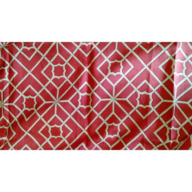 F Schumacher Luan Fretwork Linen Fabric - Image 1 of 2