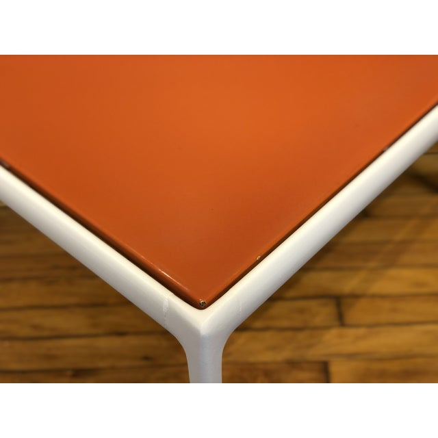 Orange Richard Schultz for Knoll Orange and White Enamel Top Side/Coffee Table For Sale - Image 8 of 12