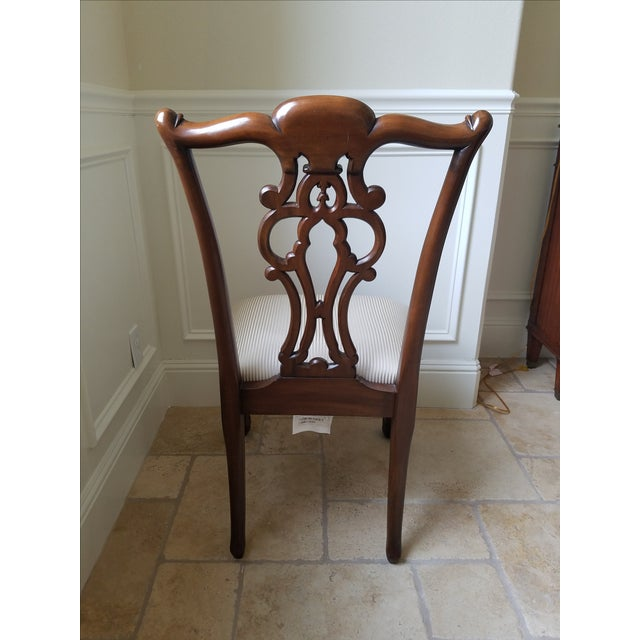 Ethan Allen Chauncey Dining Chairs - Set of 6 - Image 9 of 11
