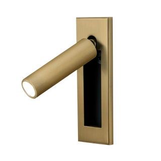 English Brass Led Wall Light With Docking For Sale