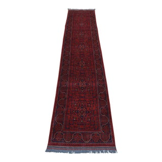 """Afghan Turkoman Hand Knotted Runner Rug - 2'9"""" x 13'3"""""""