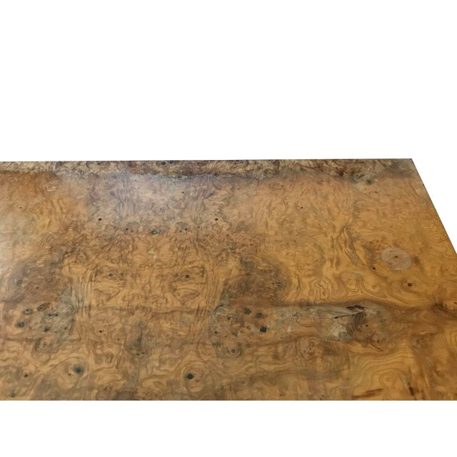 Veneer 1970s Mid-Century Modern Burl Wood Square Coffee Table For Sale - Image 7 of 13