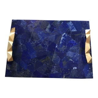 Lapis Lazuli Decorative Tray For Sale