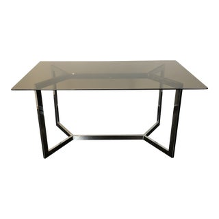 1970s Milo Baughman for Dia Chrome Base Table/ Desk For Sale