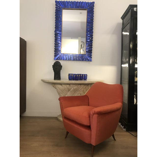 Murano Glass Framed Mirror For Sale In Miami - Image 6 of 7