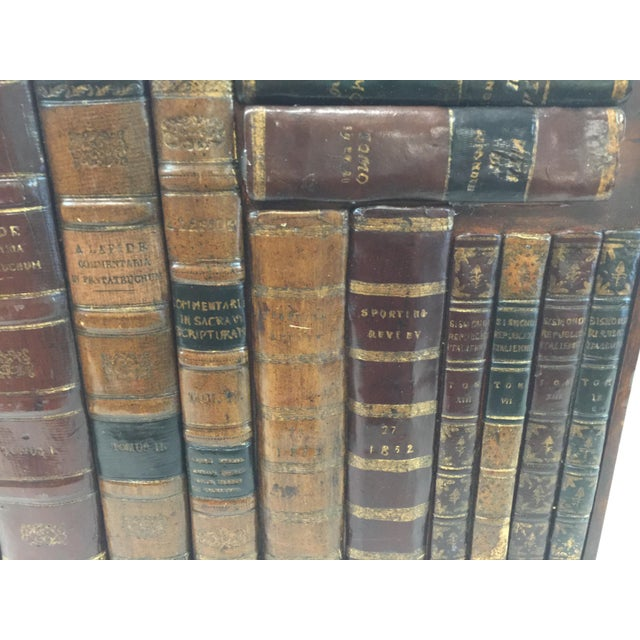 """Large Maitland Smith Faux Book Panel. In excellent condition. Measures 14""""x12""""x 3.75"""". Spines of Antique Leather books..."""