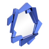 Image of Blue Glass Frame Mirror | Eichholtz Cellino For Sale