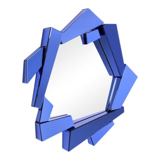 Blue Glass Frame Mirror | Eichholtz Cellino For Sale