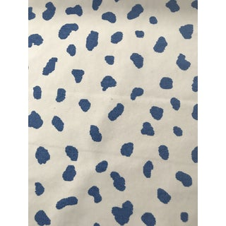 "Thibaut ""Tanzania"" Blue Screen Printed Fabric 5 Yards For Sale"