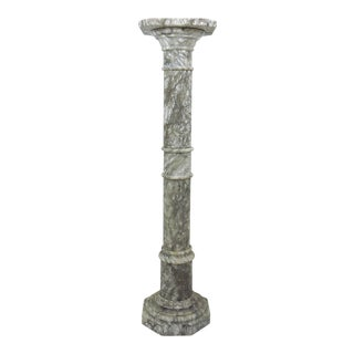 20th Century Italian Grey and White Marble Column or Pillar For Sale