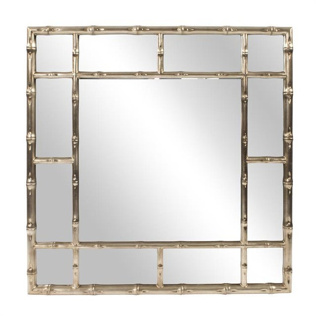 Kenneth Ludwig Silver Bamboo Mirror For Sale In Chicago - Image 6 of 6