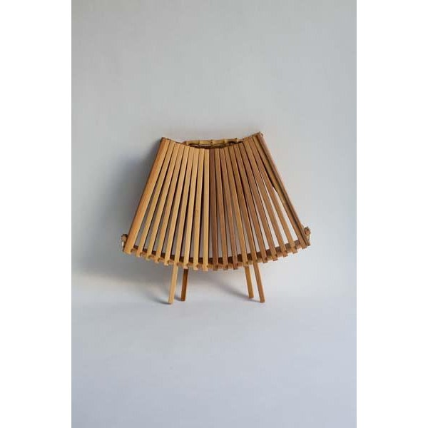 Boho Chic Folding Fan Fruit Basket For Sale - Image 3 of 4