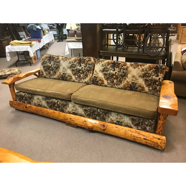Green C. Selden Belden Pinecraft Furniture Lodge Style Sofa For Sale - Image 8 of 8