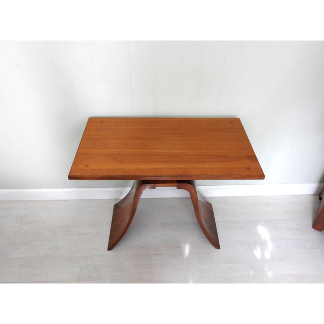 Brown Art Deco Paul Frankl Bell Side Table For Sale - Image 8 of 12