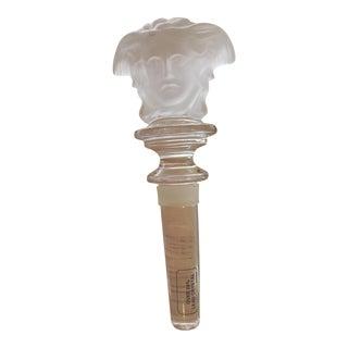 Versace Rosenthal Crystal Medusa Head Wine Bottle Stopper