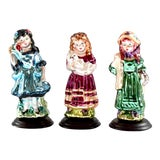 Image of Contemporary Blown Glass Victorian Christmas Figurines - Set of 3 For Sale