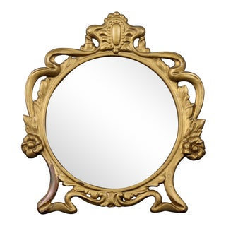 Vintage Cast Iron Vanity Mirror