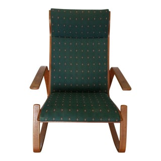 1970's Westnofa Norwegian Danish Modern Grasshopper Rocking Chair For Sale