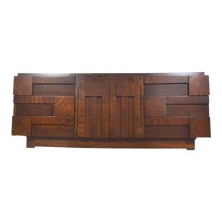 Mid Century Brutalist Dresser by Lane For Sale