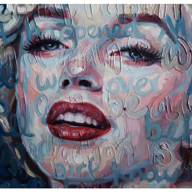 "2010s ""Marilyn Monroe"" Oil Painting on Canvas by Christina Major For Sale - Image 5 of 6"