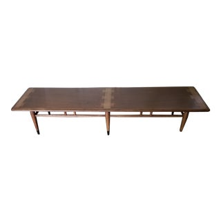 1960s Mid-Century Modern Lane Acclaim Bench Cocktail Table For Sale