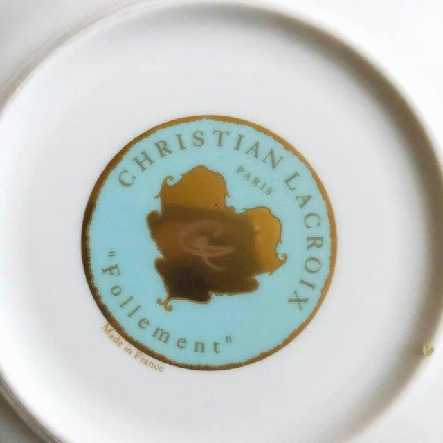 """Christian LaCroix Paris """"Follement"""" Coffee Tea Set, France - Set of 4 For Sale - Image 11 of 13"""