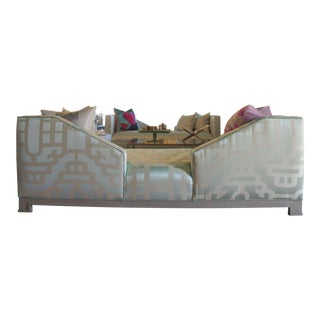 Early 21st Century Wesley Hall Social Sofa Upholstered in Robert Allen Silk For Sale