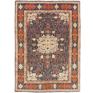 Extremely Fine Antique Indian Agra Carpet For Sale