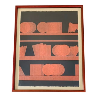 Op Art Pol Bury Signed Limited Edition Lithograph For Sale