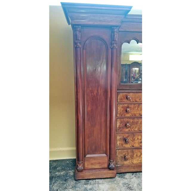 Early 19th Century British Mahogany Gothic Revival Wardrobe For Sale - Image 12 of 13