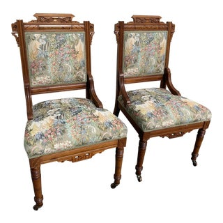 Late 19th Century Vintage Eastlake Chairs- A Pair For Sale