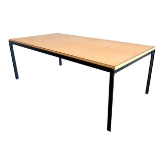 Florence Knoll Birch T Angle Architectural Coffee Table For Sale