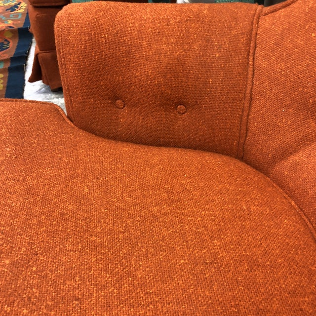 Pair Midcentury Modern Tufted Chairs For Sale In New York - Image 6 of 7