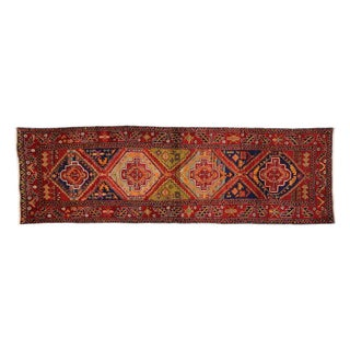 Persian Heriz Tribal Runner - 3'7 X 11'10