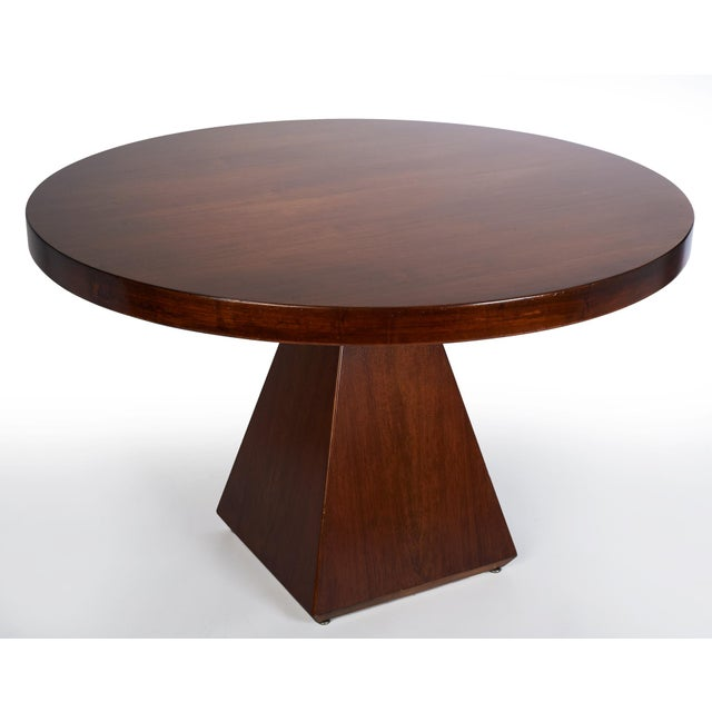 1960s 1960s Vintage Vittorio Introini for Saporiti Italian Geometric Walnut Dining Table For Sale - Image 5 of 6