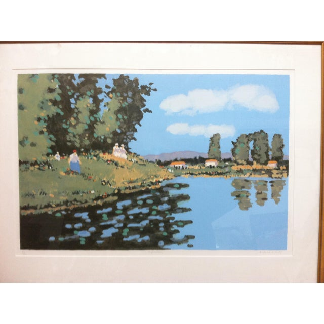 "Vintage Mid-Century Frederick McDuff ""Reflections"" Framed & Matted Limited Edition Print For Sale - Image 4 of 10"