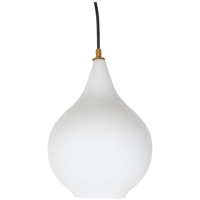 Italian Case Glass Pendant Light, 1950s For Sale