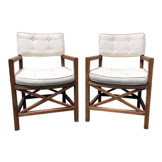 Lane Venture Bamboo Arm Chairs - a Pair