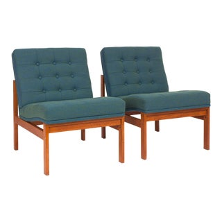 Vintage Torben Lind and Ole Gjørlev-Knudsen for Fritz Hansen Easy Chairs - a Pair