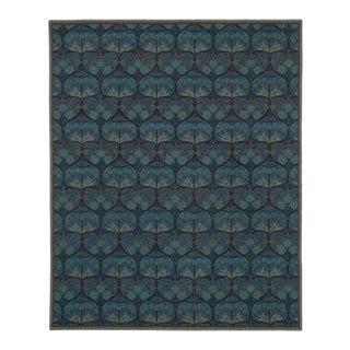Hand Tufted Arts & Crafts Geometric Wool Rug - 5' x 8'