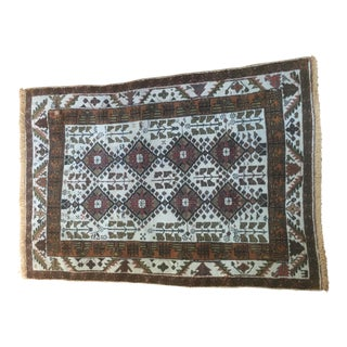Autumn Colored Serapi Heriz Persian Rug - 3′ × 4′5″