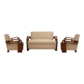 Art Deco Teak Living Room Set - Set of 3 For Sale