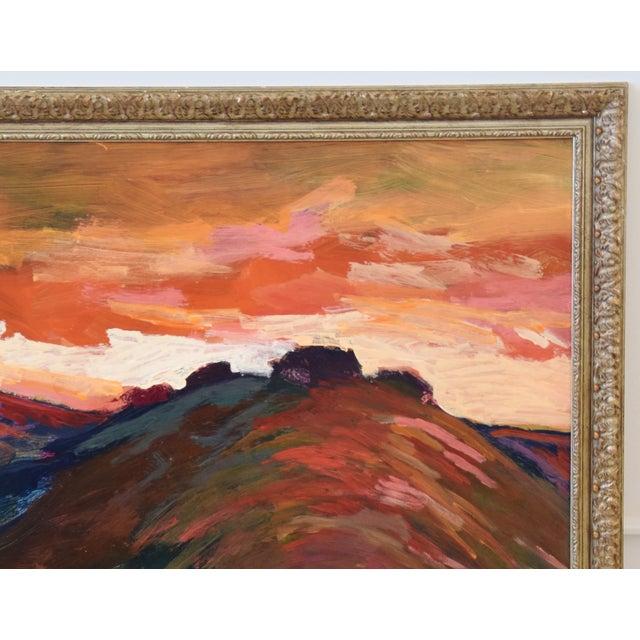 Impressionist Santa Barbara Sunset Painting by Juan Guzman For Sale - Image 4 of 9