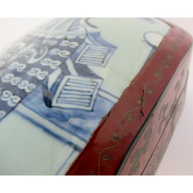 Vintage Chinese Lacquered Box For Sale In Los Angeles - Image 6 of 10