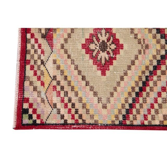 1960s Vintage Turkish Scatter Wool Rug 4 X 7 For Sale - Image 5 of 13