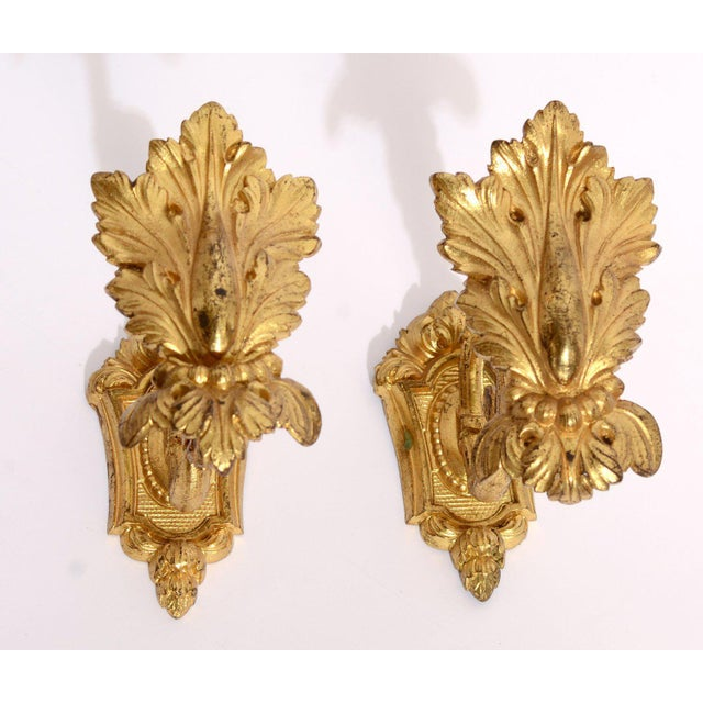 Pair Antique French Gold Ormolu Curtain Tie / Hold Backs, c1880 Condition- Nice Vintage condition. Some wear as shown....