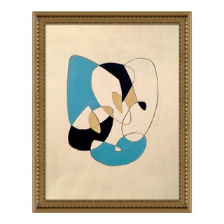 Slipping Away by Ilana Greenberg in Gold Frame, Medium Art Print For Sale