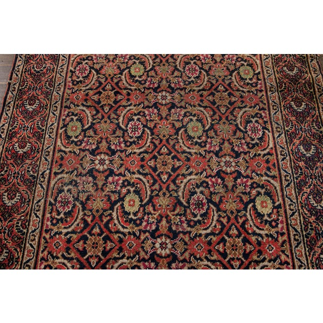 Vintage Persian Wool Rug 3'10'' X 6'4'' For Sale - Image 9 of 11