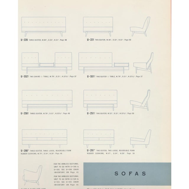 Jens Risom Sofa With Magazine Table For Sale - Image 12 of 13